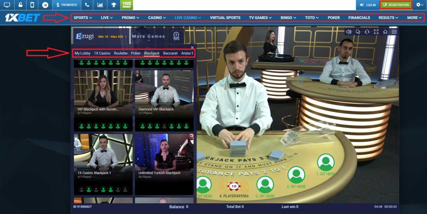 Visit 1xBet Online Casino